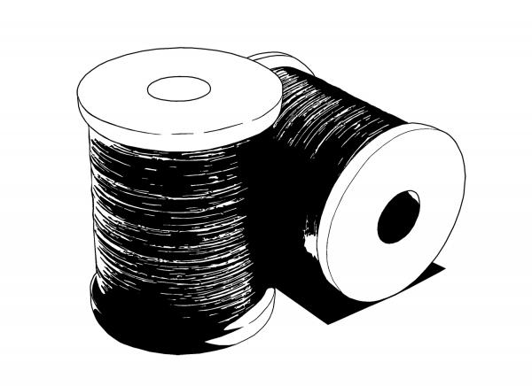 Bindetråd, silke, tinsel og bly